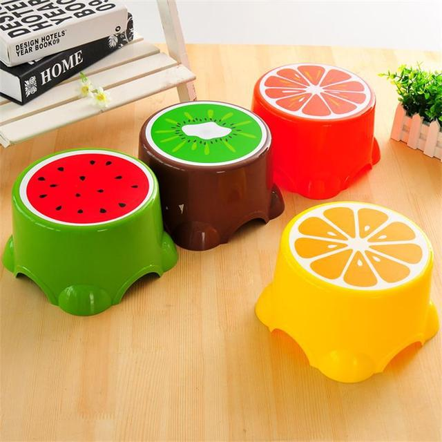 Fruit Trumpet Children's Stool Cute Plastic Stool Round Stool Baby Cartoon Stool Thickened Bench  Chair for Children 1