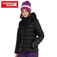 RUNNING RIVER Brand Woman Winter Down Jacket For Sports Women Hooded Waterproof Warm Outdoor Jackets Sport