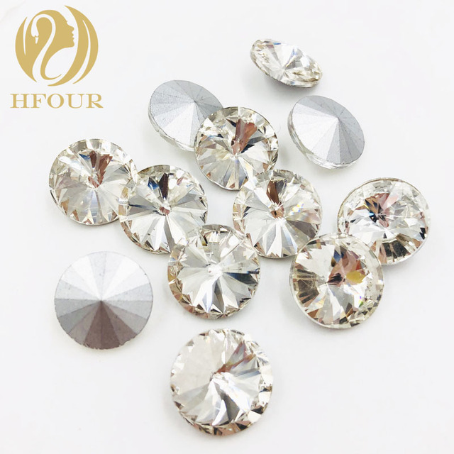 6mm 8mm 10mm 12mm 14mm 16mm 18mm white round shape Pointback glass crystal  rhinestones DIY Watch headpiece jewelry accessories 834ca7799020