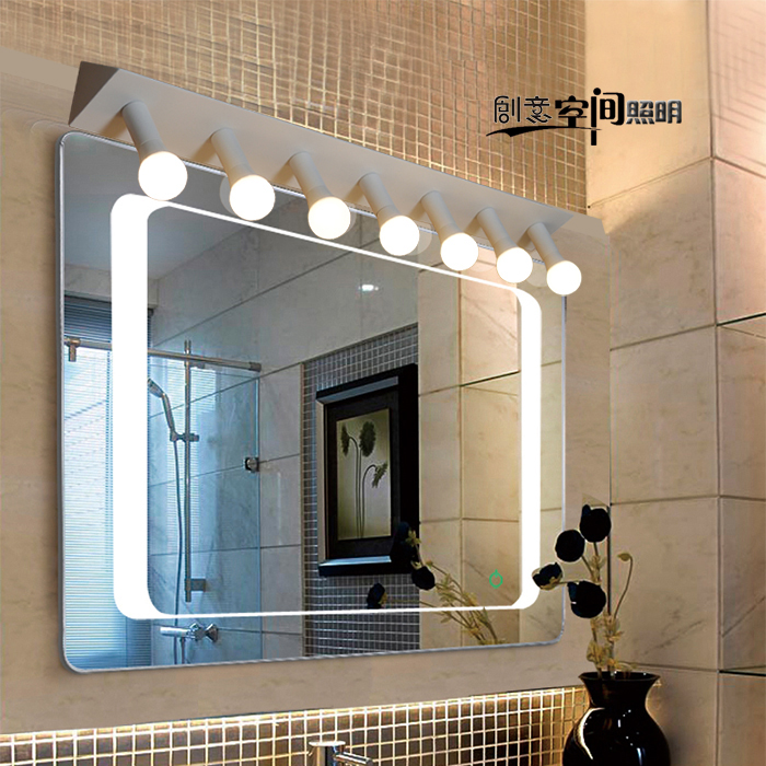modern minimalist Led mirror front Anti fog lamp waterproof bathroom mirror light vanity cabinet dressing room wall lamp zx modern acryl led mirror wall lamp waterproof and anti fog cabinet mirror light bathroom toilet dressing room make up lamp