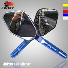 Universal Motorcycle accessories rearview mirror motorbike back mirrors aluminum for yamaha YZF-R3 YZF-R25 YZF R3 R25 yzf-r1 r6 for yamaha yzf r1 r6 r25 r3 fjr 1300a gas fuel tank cap cover motorcycle accessories cnc aluminum