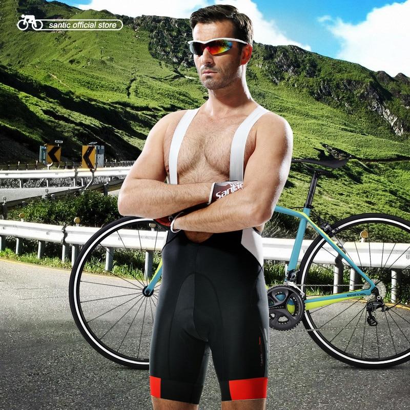Santic Profession Cycling Bib Shorts Men Coolmax Yellow Gel Padded Bib Cycling Shorts Bike Bicycle Bib Cycling Shorts M5C05049H santic men s profession cycling bib shorts coolmax padded men s cycling bicycle bike bib shorts 3d braces pants s 3xl m5c05051h