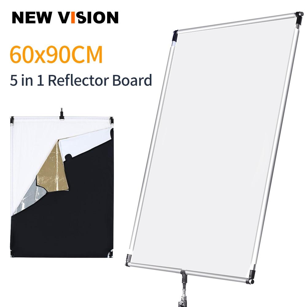 60 90cm 27in 35in Sun Scrim Large 5in1 Black Silver Gold White Diffuser Reflector Aluminum Alloy