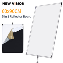 60 * 90cm 27in *  35in Sun Scrim Large 5in1 Black Silver Gold White Diffuser Reflector Aluminum Alloy Frame for Photography