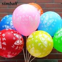 10 Uds colorida mariposa imprimir globo 12 pulgadas Navidad globos de látex bebé ducha cumpleaños fiesta material para decoración de boda