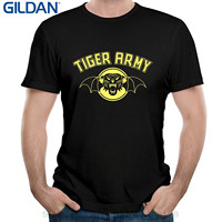 GILDAN Tee Shirt For Men O Neck Tops Male Band Tiger Army Forever Fades Away Song
