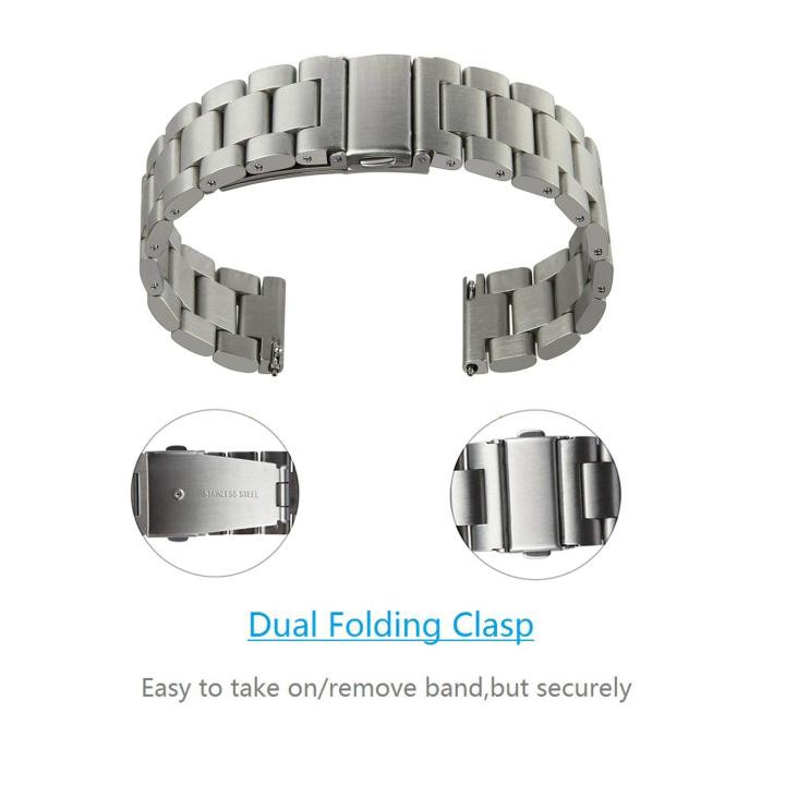 Luxury Watchband Wrist Strap on for Huawei Watch GT Replacement Strap Stainless Steel Band Metal Business Bands Easy to Attach in Smart Accessories from Consumer Electronics