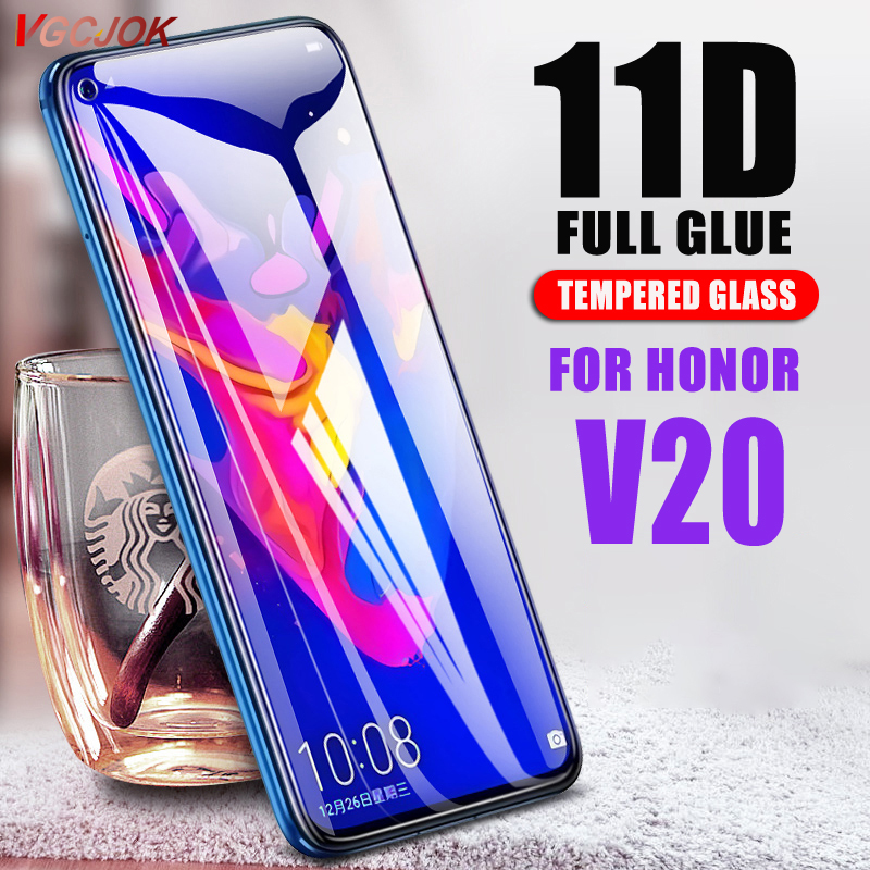 11D Full Glue Tempered Glass For Huawei Nova 4 Nova4 Screen Protector Film For Huawei Honor V20 View 20 View20 Protective Glass