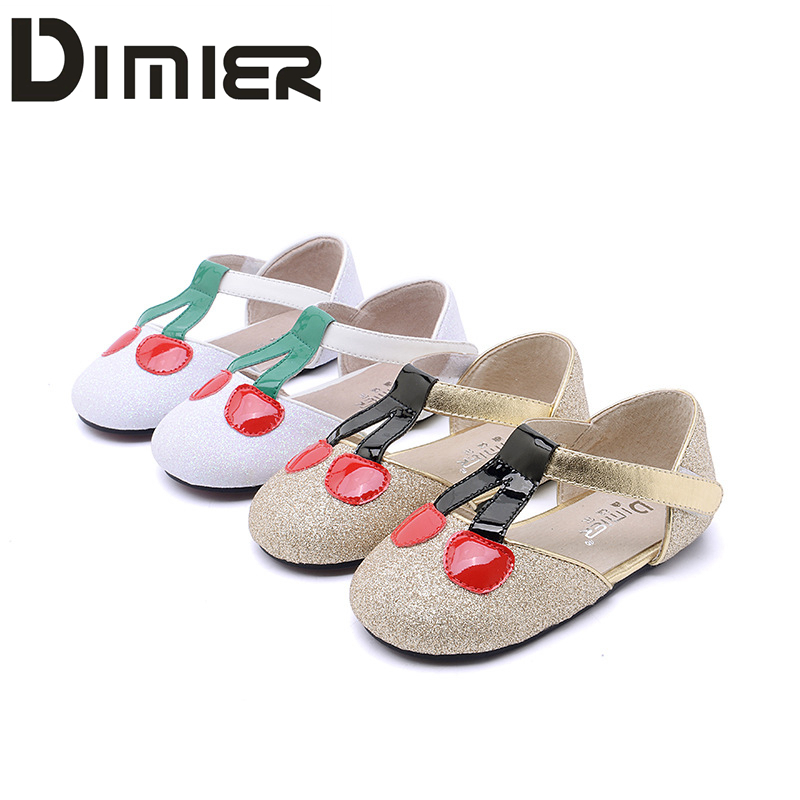 1 7y toddler baby girl genuine leather shoes sheepskin super twinkle flash shoes girl cute cherry princess wedding dress walker