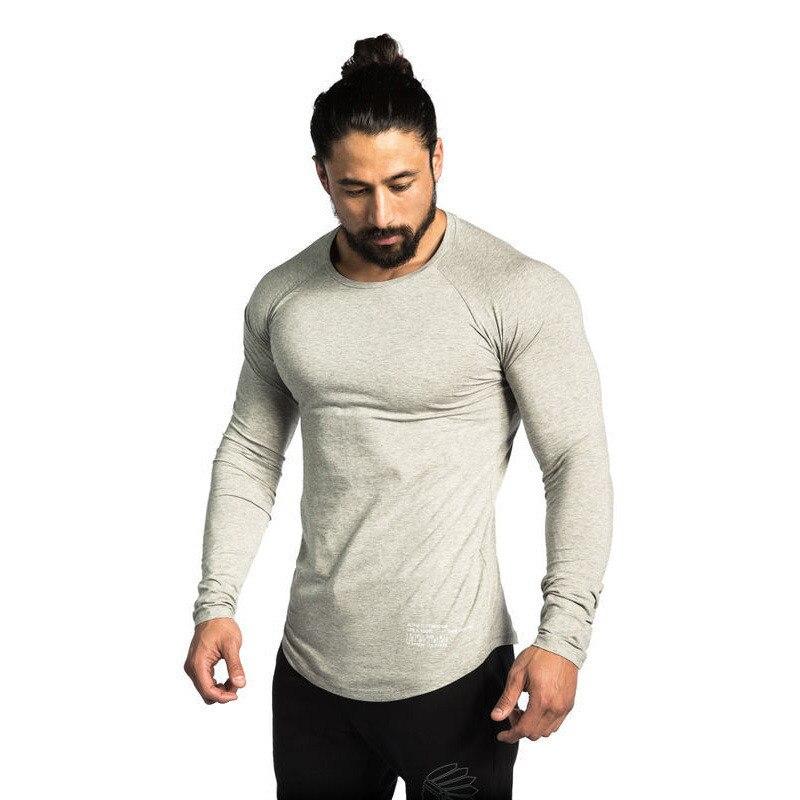 HETUAF  New Autumn Fashion Brand O-Neck Slim Fit Long Sleeve T Shirt Men Trend Casual Mens T-Shirt Korean Shirts