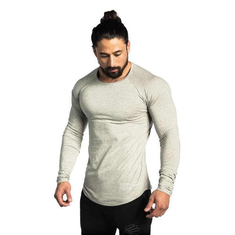 HETUAF New Autumn Fashion Brand O-Neck Slim Fit Long Sleeve T Shirt Men Trend Casual Mens T-Shirt Korean T Shirts