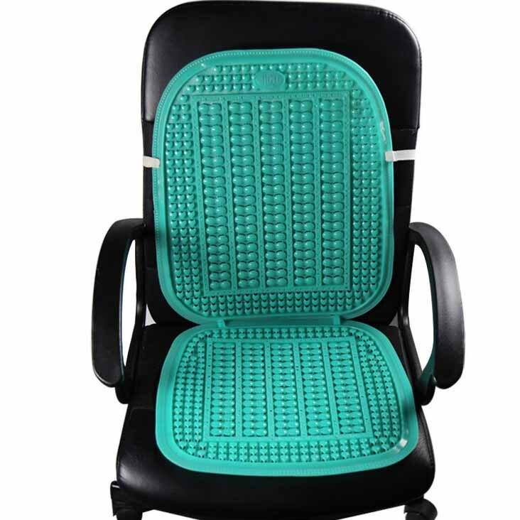 6pcs summer cool car seat pads summer soft plastic breathable massage cushion