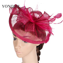 2a9900fd29e High quality fascinator hat women kentucky derby church hats fascinator 18  colors available feather decoration accessory