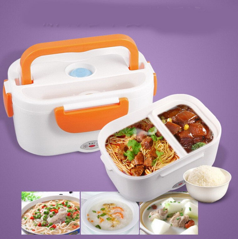 new portable electric heating heated lunch box compact. Black Bedroom Furniture Sets. Home Design Ideas