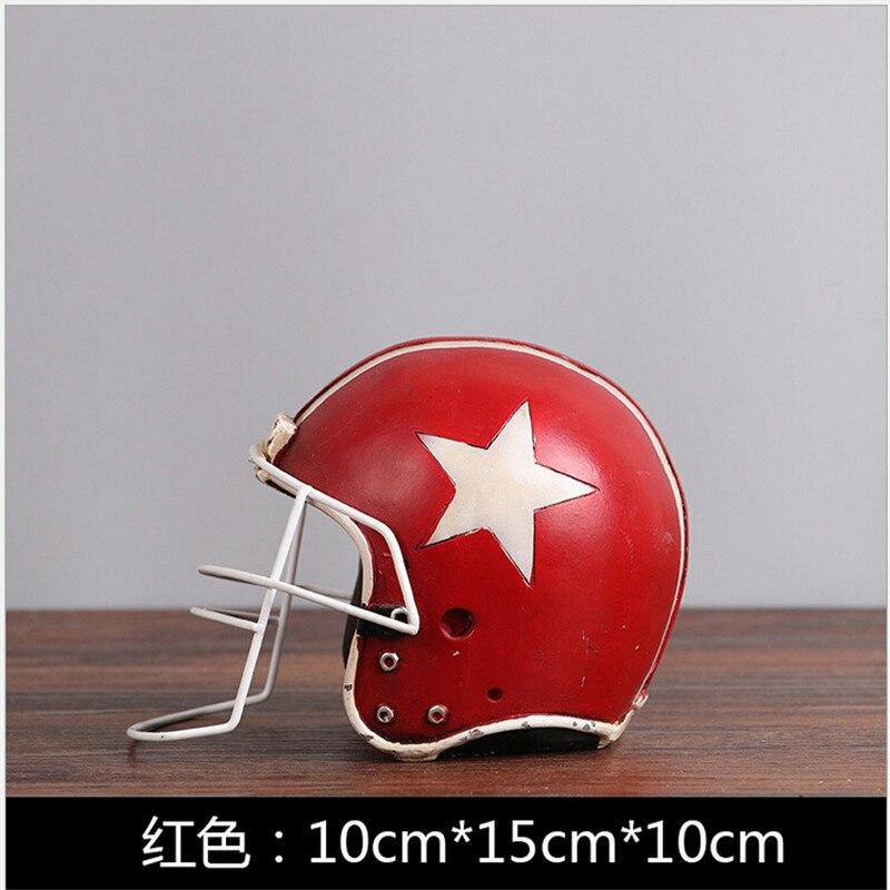 1 pcs 10*10*15cm American football ice hockey helmet Resin Crafts creative home decration ornaments