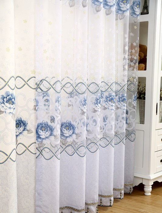 Europe White Draperies And Sheer Curtains For Living Room