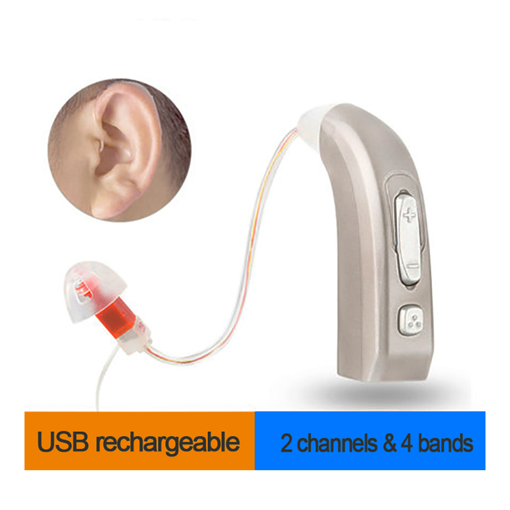 Newest Rechargeable Hearing Aid Auidphones Microphone Amplifier To Profound Deaf Hearing Aids Left /Right ear Dropshippin usb hearing aid auidphones my 33 microphone rechargeable amplifier behind the ear 2 pieces for right ear and left ear