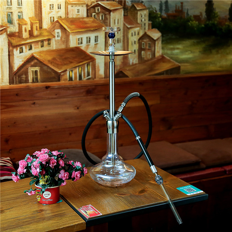 Image 5 - Yimi Hookah Glass Hookah Mouthpiece 3K Carbon Sleeves Aluminum Shisha Handle 1.5m Silicone Hose Free Shipping-in Shisha Pipes & Accessories from Home & Garden