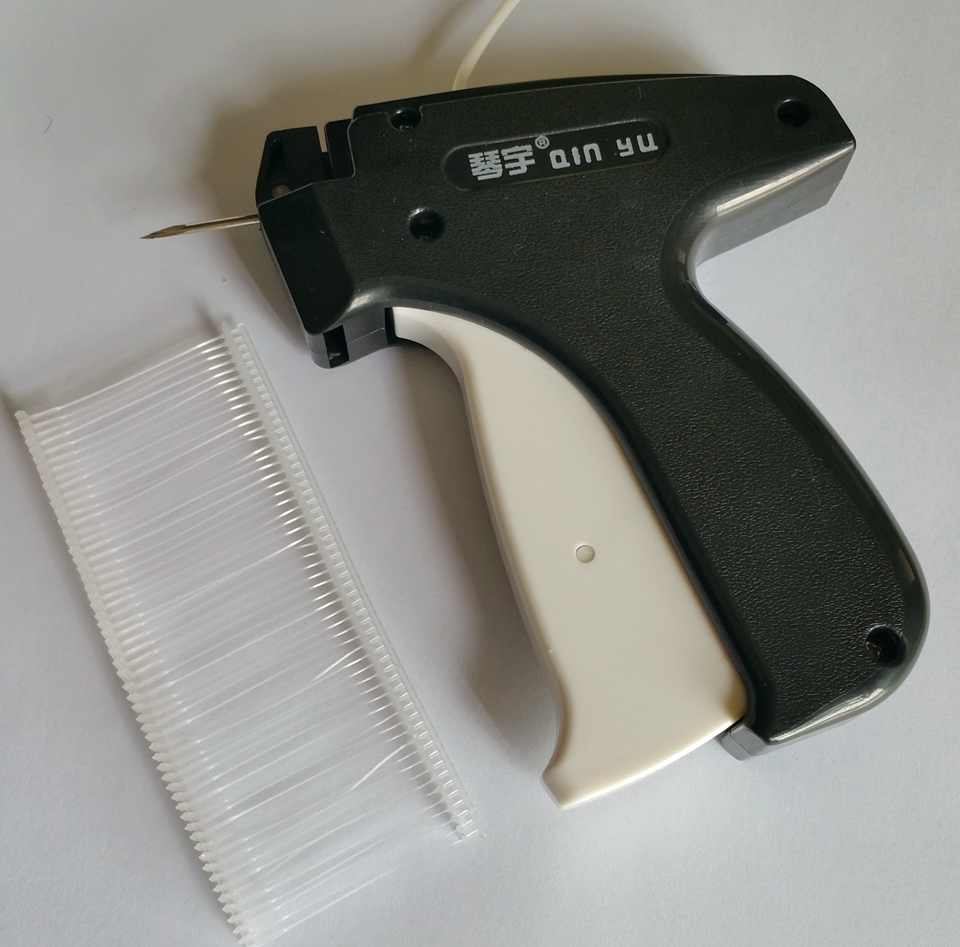 BARU 1pcs 103 * 120mm Garment Handheld Pakaian Harga Label Tag Tag Gun dengan 1000 atau 5000 pcs 39mm Barbs + 1 Needle For Clothing