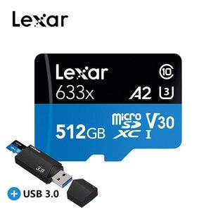 Image 2 - Original Lexar 128GB Micro SD 16GB 32GB Memory Card high speed up to Max 95M/s 64GB Class10 633x cartao de memoria TF Flash Card