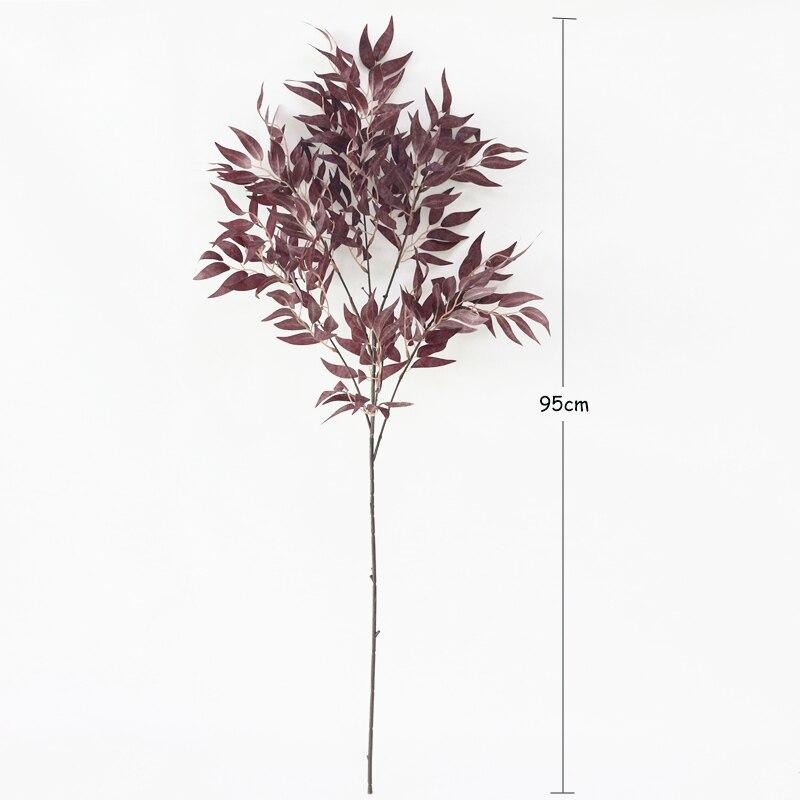 JAROWN Simulation Vine Plant Willow Leaf Single Branch Willow Strips Wedding Arrangement Arches Decor Fake Flowers Home Decor (16)