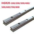 1 шт. HGR20-L100/200/300/400/500/600/700/800 квадратные линейные направляющие без слайдера