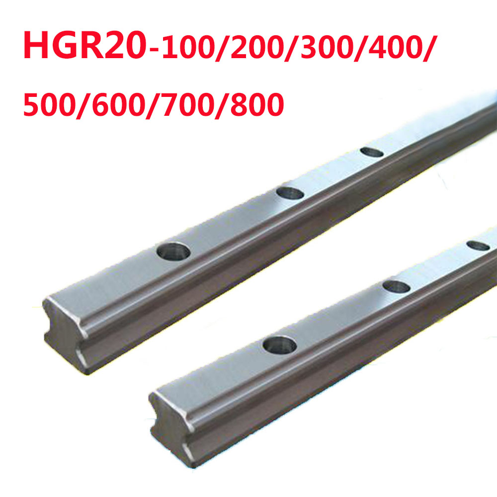 1PC HGR20-L100/200/300/400/500/600/700/800 Square Linear Guides without Slider клапан расхода d 800 300 комплект 2шт 400 300