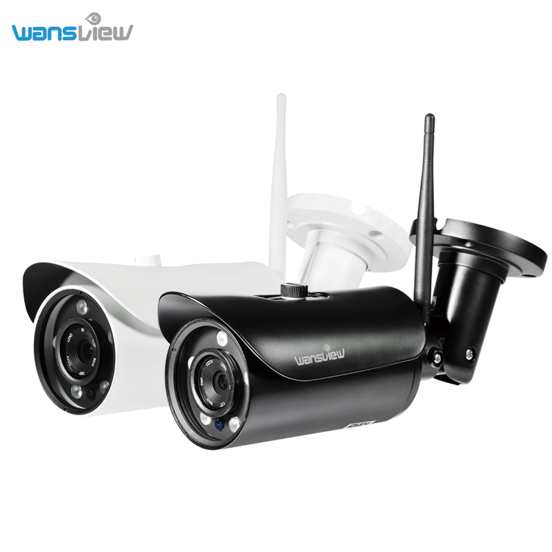 Wansview Outdoor IP Camera 1080P WiFi Wireless IP Security Bullet Camera with Night Vision,IP66 Waterproof,two way audio,SD card bullet camera tube camera headset holder with varied size in diameter