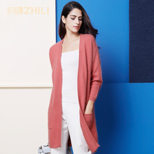 2017 autumn Cashmere Cardigans And winter Women Knitted Long V neck High Quality Female Solid Sweaters