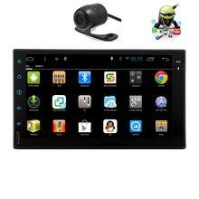 Android 5.1 CAM USB EQ Car Stereo SD Capacitive HeadUnit GPS APP FM Map Logo BT PC No-DVD Tablet OBD2 AMP Radio