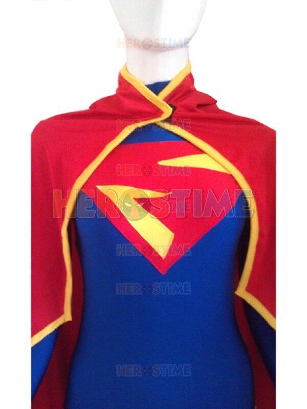 Supergirl Costume Halloween Cosplay Leopardo rojo y azul diseño - Disfraces - foto 2