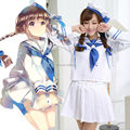 Wadanohara And The Great Blue Sea Sailor Suit Uniform Tops+Skirt Cosplay Costumes