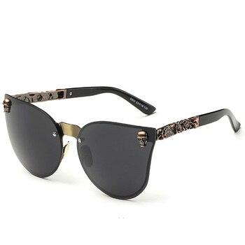 Fashion Luxury Sunglasses Women Brand Designer Skull Sun Glasses For Ladies Retro UV400 Anti-Reflective Female Oculos RS082 3