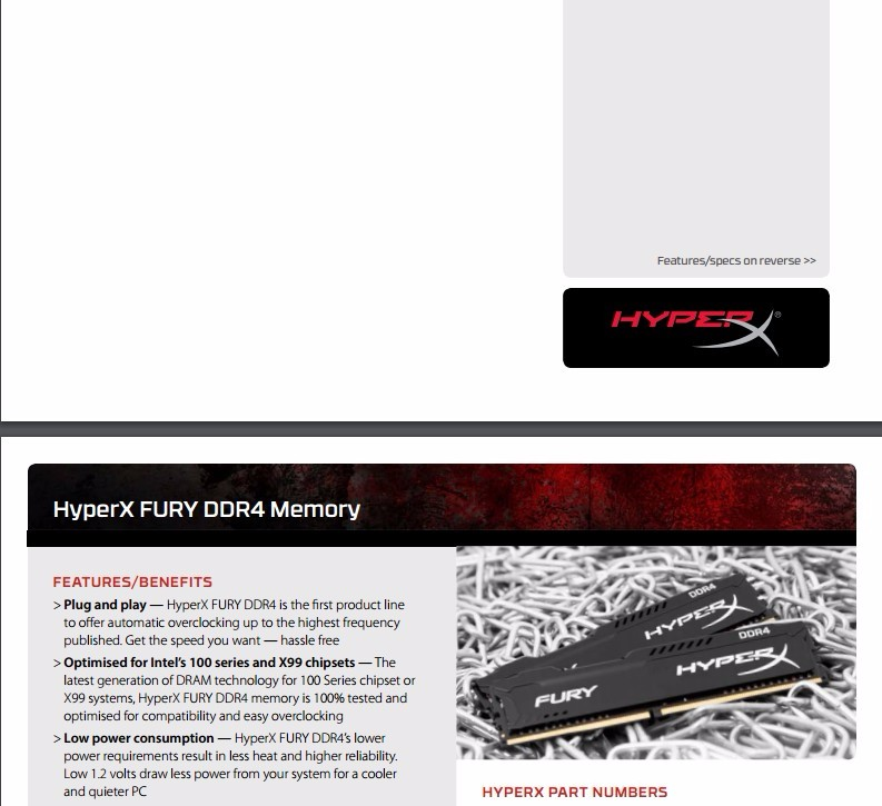 Kingston HyperX FURY 4GB 8GB 16GB DDR4 2400MHz PC RAM Memory DIMM 288-pin Desktop Ram Internal Memory RAM For Computer Games Ram 10