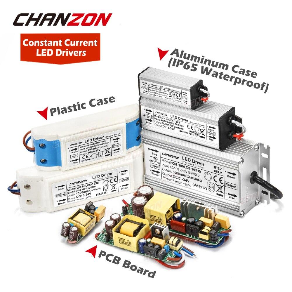 LED sürücü 1W 3W 5W 10W 20W 30W 36W 50W 100W 300mA 600mA 900mA 1500mA su geçirmez aydınlatma Transformers DIY lamba güç kaynağı
