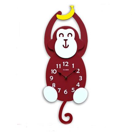 3d decorative wall clocks Children's cartoon monkey living room watch wall shaped wall clock fashion home decoration duvar saati