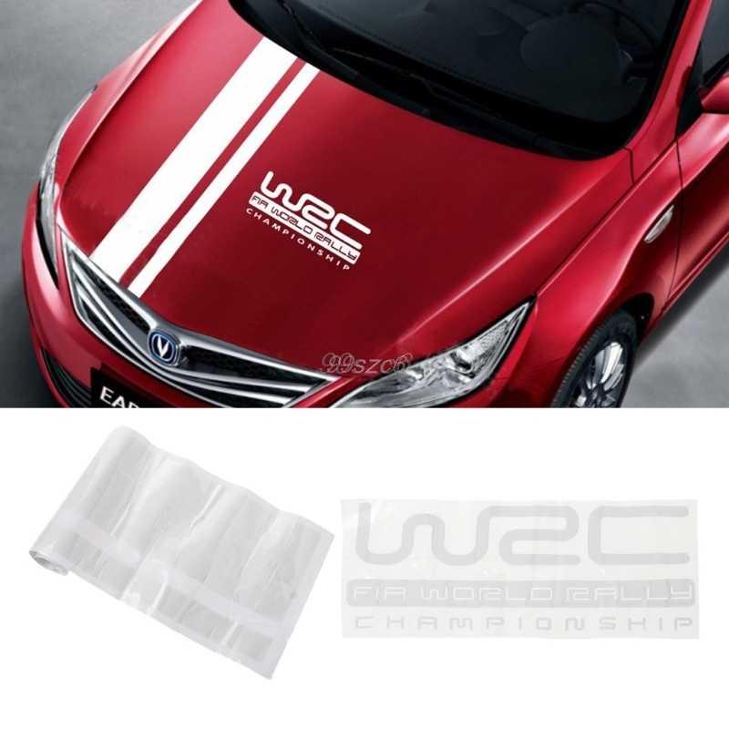 Personalización WRC Stripe cubiertas de coche vinilo deportes de competición calcomanía cabeza coche pegatina para ford focus VW cruze renault Accesorios
