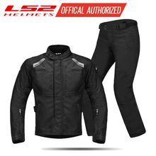 LS2 Jersey Mens Motorcycle Heavy Racing Suit Set Four Seasons Rally Summer Warm Waterproof Drop