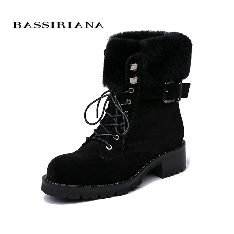 BASSIRIANA Shoes woman genuine leather boots, flats shoes, winter boots Suede leather 35-40 lace-up Free shipping shoes woman genuine leather ankle boots flats shoes autumn boots suede leather 35 40 lace up free shipping bassiriana
