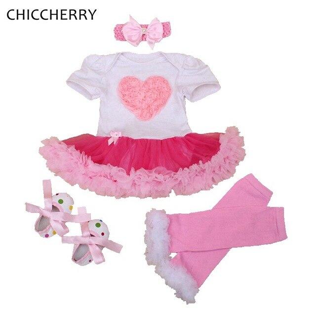 cc695f058 Rose Lace Romper Dress Baby Girl Valentine Tutus Headband & Legwarmers Set  Wedding Party Dresses Roupa