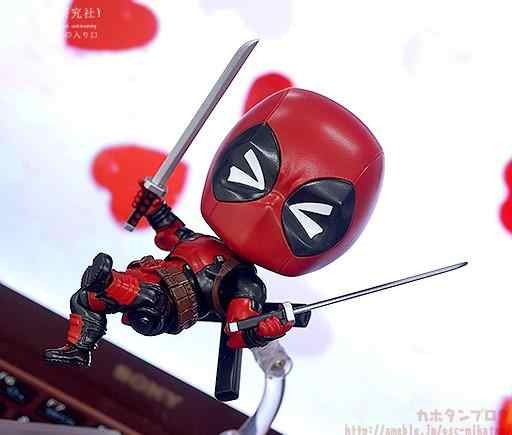 Figura maravilha Deadpool #662 Action Figure Boneca Série Orechan Edição Q Ver. 10.5 centímetros de brinquedo