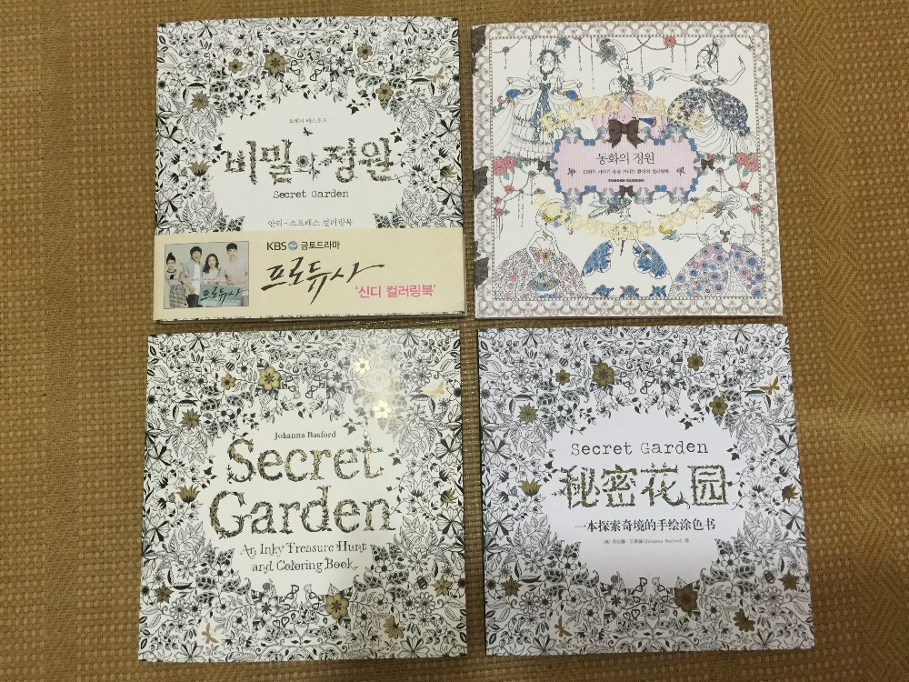 Online Shop Secret Garden An Inky Treasure Hunt And Coloring Book For Children Adult Relieve Stress Kill Time Drawing English Version
