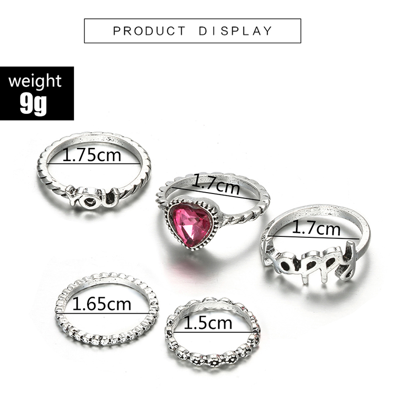 HuaTang Bohemian Antique Silver Ring Geometric Elephant Flower Green Rhinestone Knuckle Rings Midi Finger Anel Rings Jewelry 56