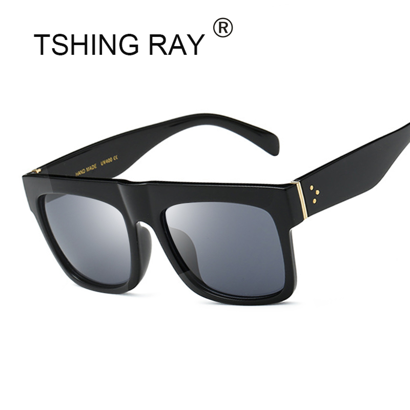 TSHING RAY Italy Brand Designer Square Celebrity Famous Kim Kardashian Sunglasses Women Men Sun Glasses 50S Female Lady UV400