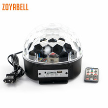 zoyabell Led Disco Stage Party Light Music Speaker Bluetooth DJ Magic Remote Sound Control Laser Club Lamp Projector Lighting цена