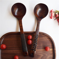 free shipping 5 pieces pack Direct sales east asian style creative tortoise shell patch big bend soup spoon wooden spoon