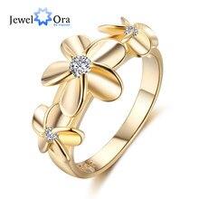 Золото-Цвет кольца для Для женщин обручальное кольцо 5 6 7 Размеры Мода  кольцо женский украшения гвоздики Циркон Винтаж мать под. c690f2619e1