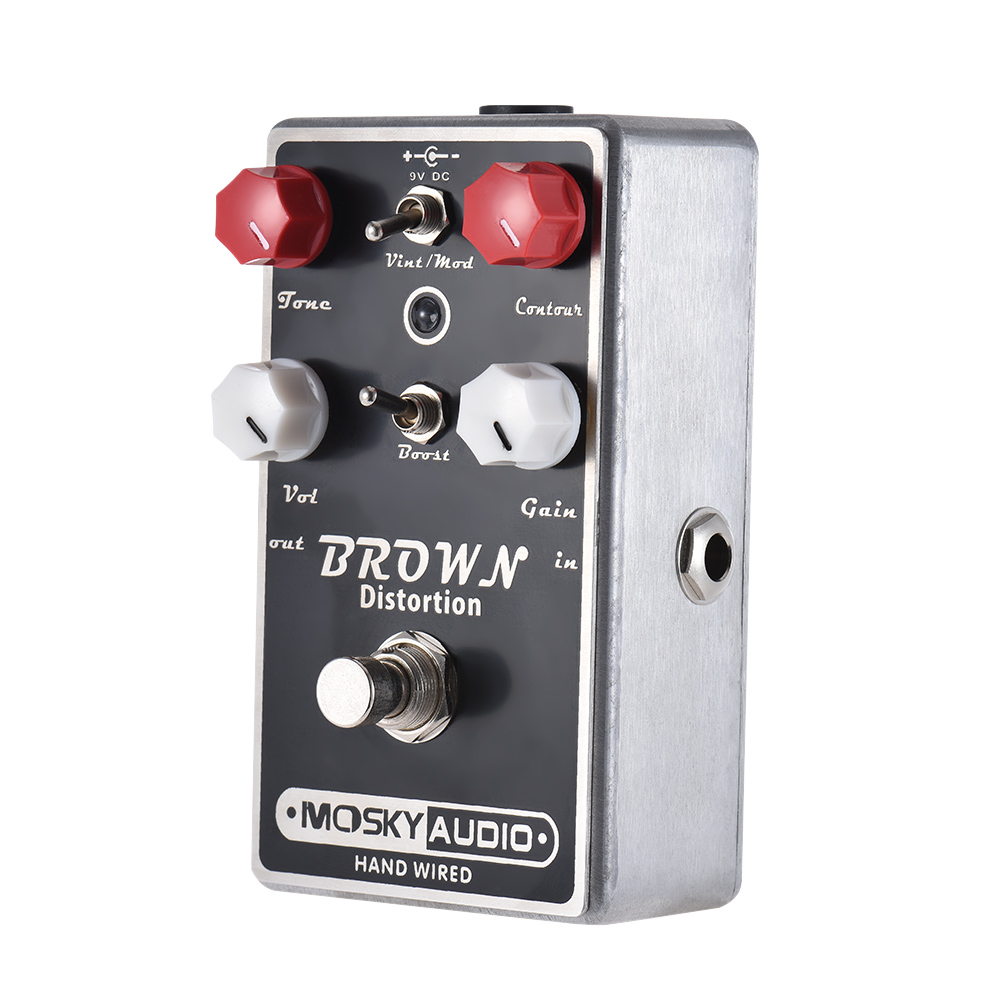 MOSKY BROWN Distortion Guitar Pedal Full Metal Shell Guitar Effect Pedal True Bypass High Quality Guitar