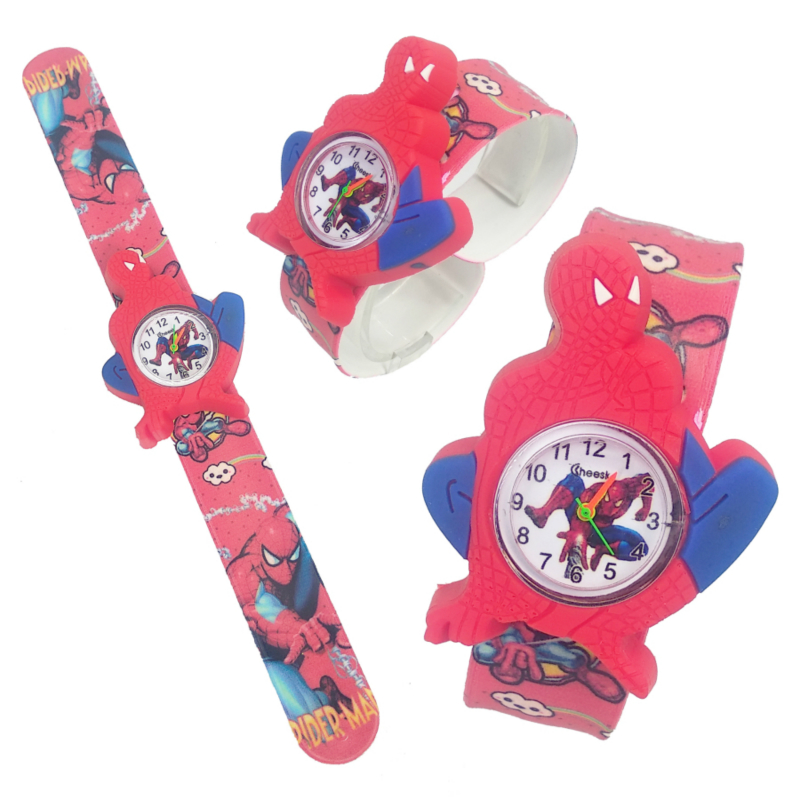 2019 Dropshipping Spiderman Kids Watches Boys Cartoon Digital Watch Toy Patted Wristwatch Children Birthday Party Gifts Clock
