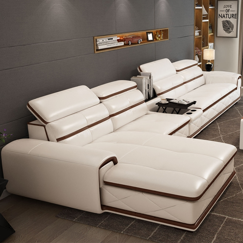 2014 new dubai furniture sectional luxury and modern corner leather living room arab l shaped 1 At home furniture dubai